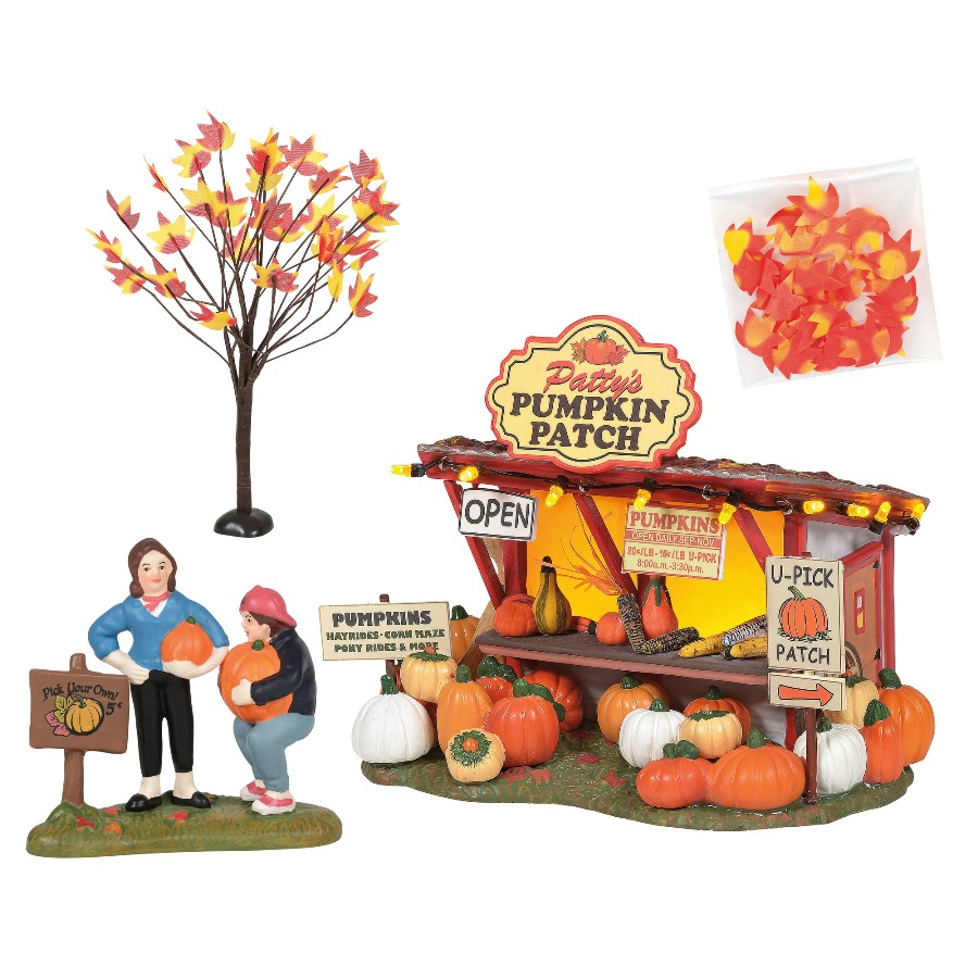 Department 56 Halloween Village - Pattys Pumpkin Patch Set 2020