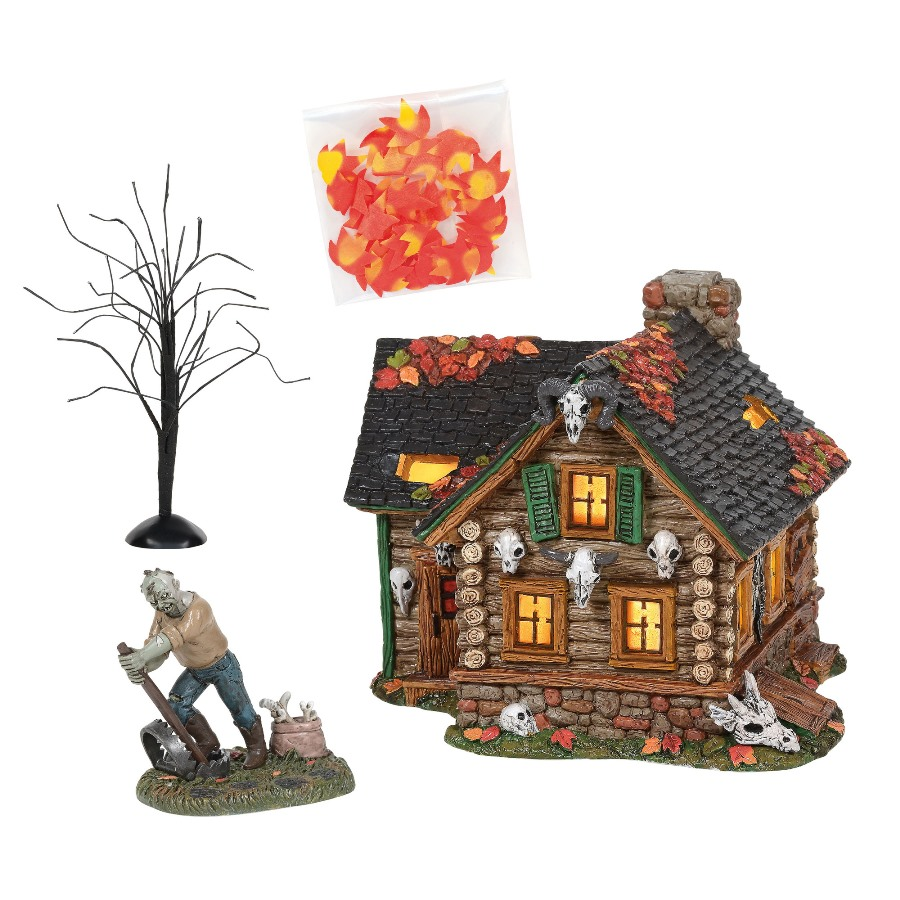 Department 56 Halloween Village Silver Series - Haunted Huntsman House 2020