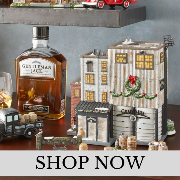 Department 56 - Jack Daniels Village - Christmas Village Set