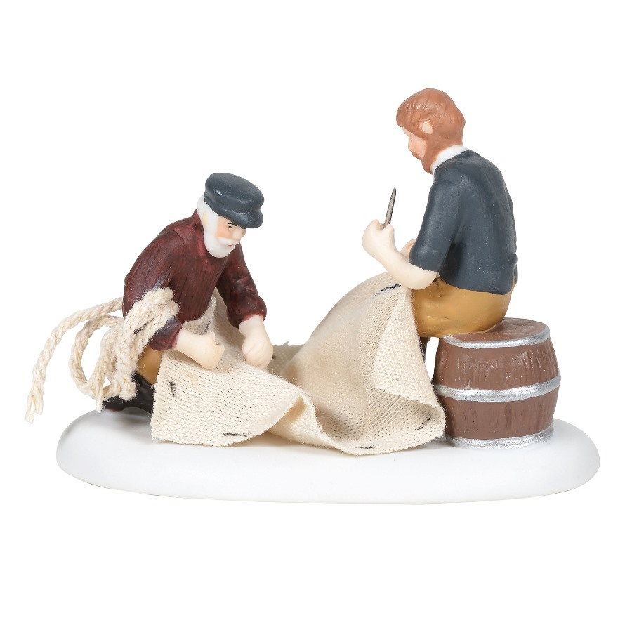 Department 56 New England Village Accessory - Mending The Sails 2020