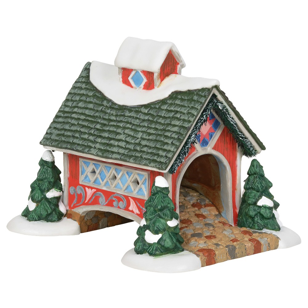 Department 56 New England Village Accessory - White Rose Covered Bridge 2019