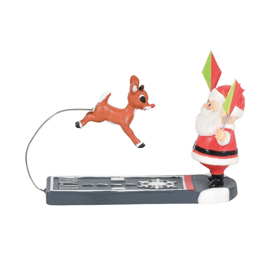 Department 56 North Pole Accessory - Nice Landing Rudolph 2020