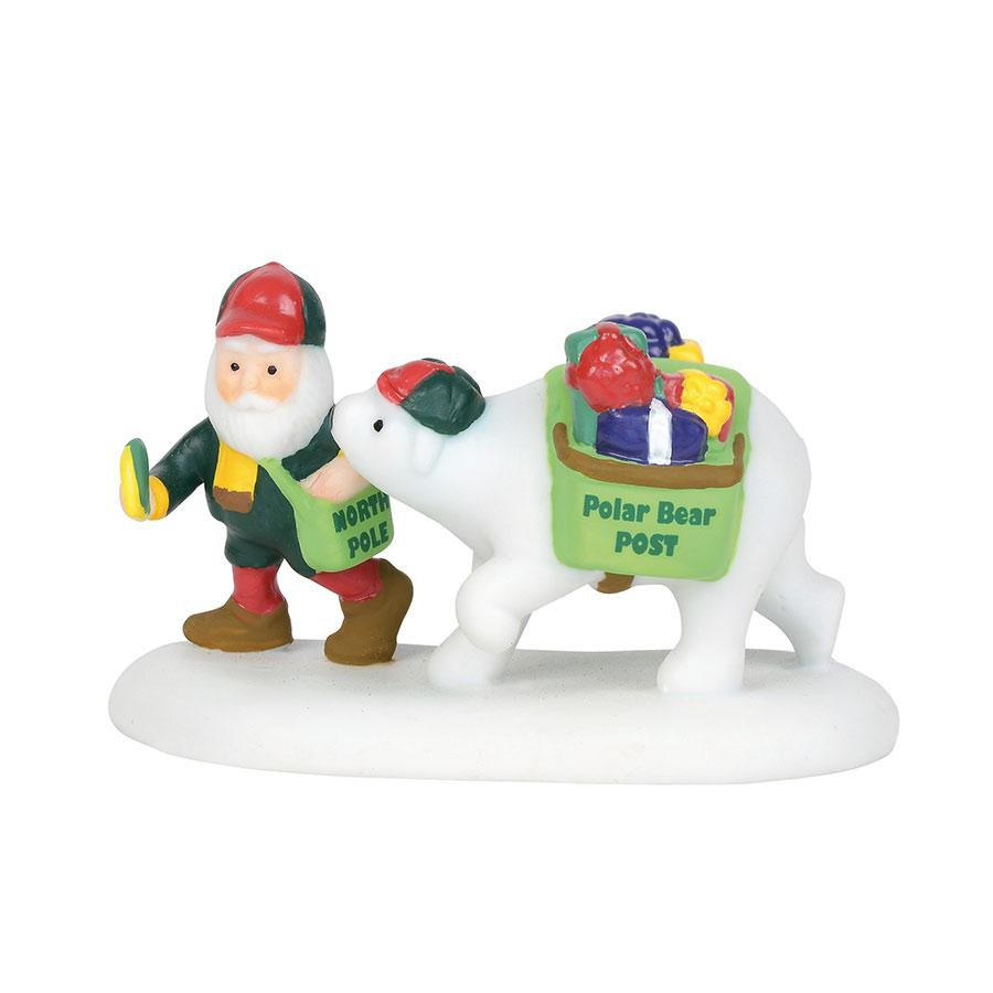 Department 56 North Pole Village Accessory - Polar Bear Post 2019