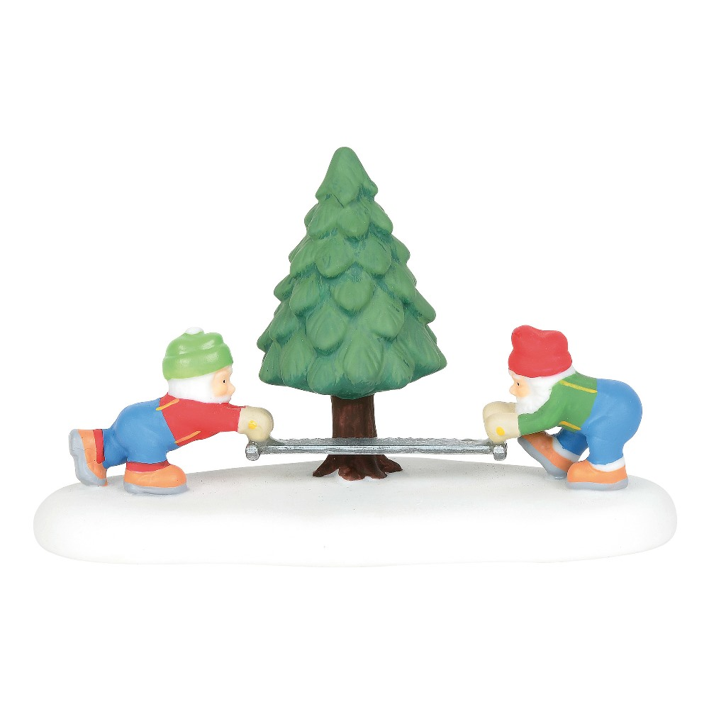 Department 56 North Pole Village Accessory - They Came They Sawed 2019