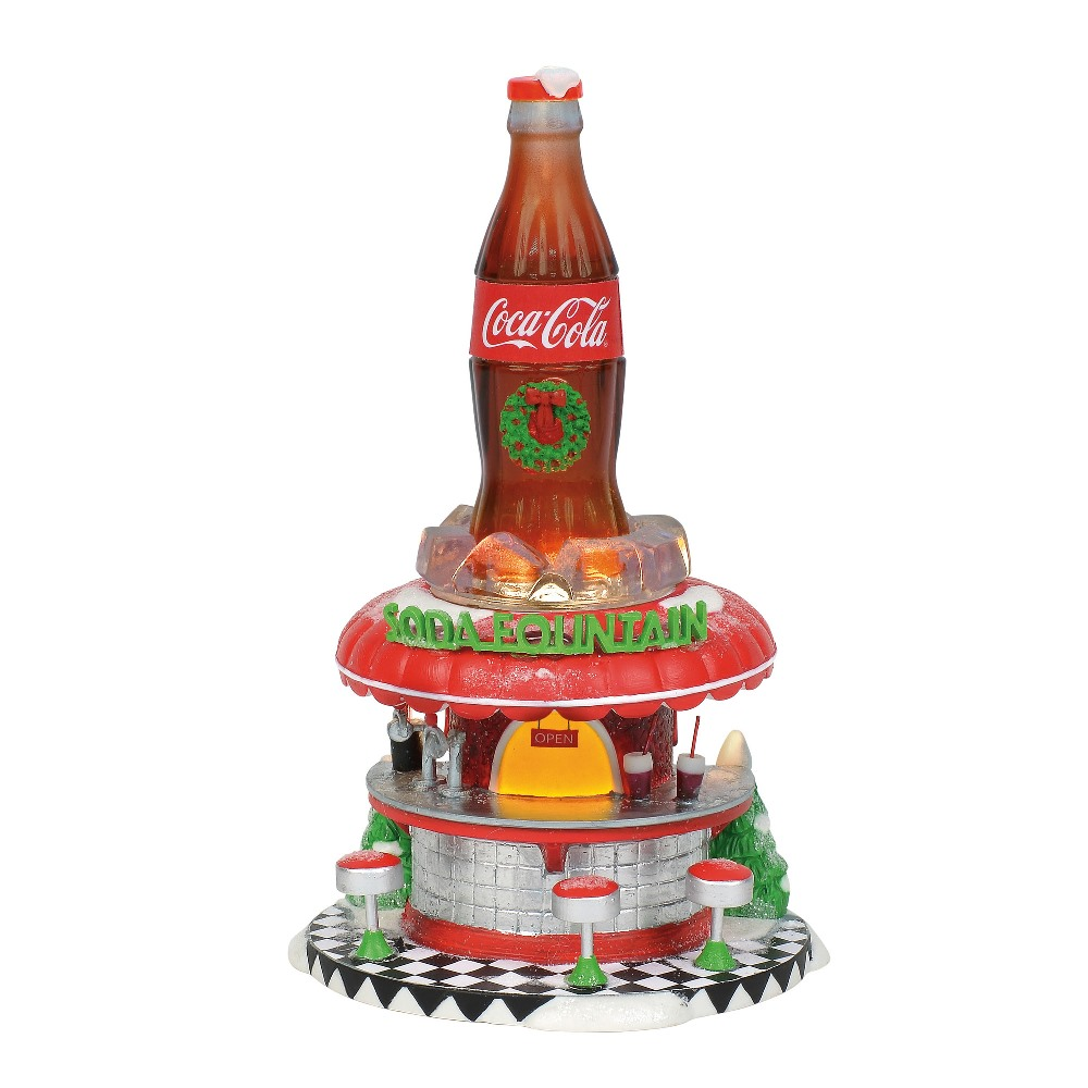 Department 56 North Pole Village - Coca-Cola Soda Fountain 2018
