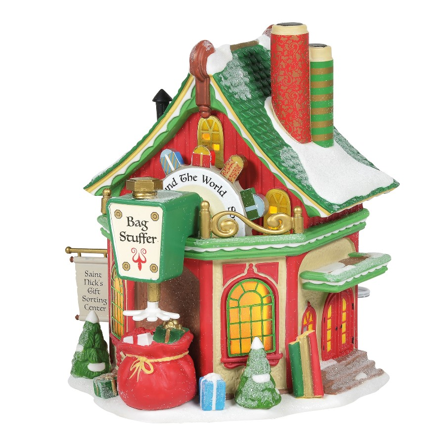 Department 56 North Pole Village - St Nicks Gift Sorting Center 2020