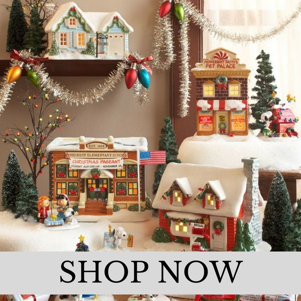 Department 56 - Peanuts Village - Christmas Village Set