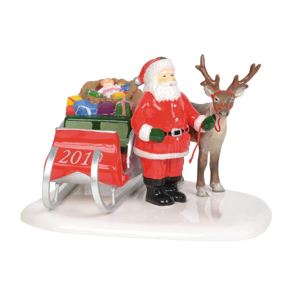 Department 56 Snow Village Accessory - Santa Comes to Town 2019