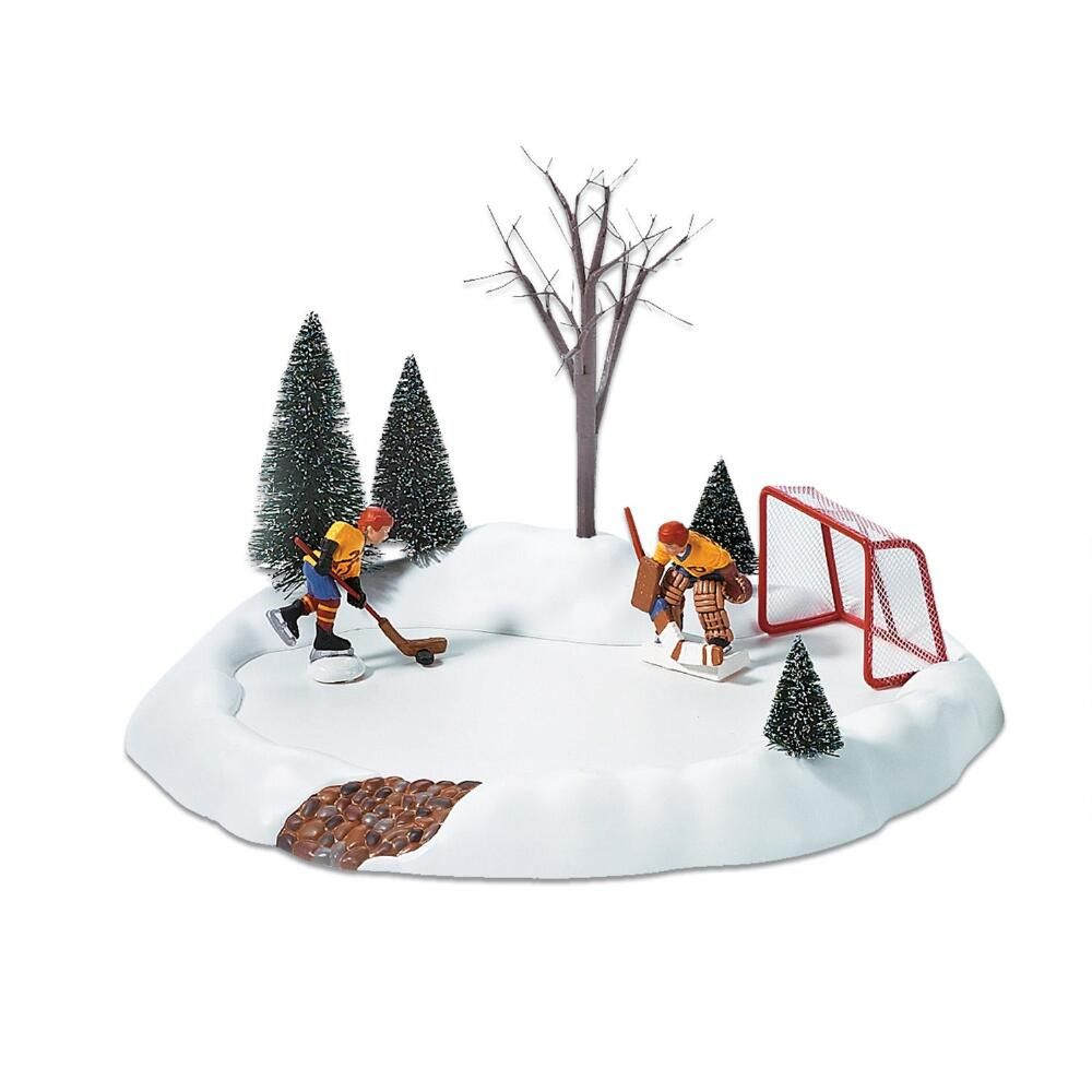 Department 56 Village Accessory - Hockey Practice Animated Set of 3