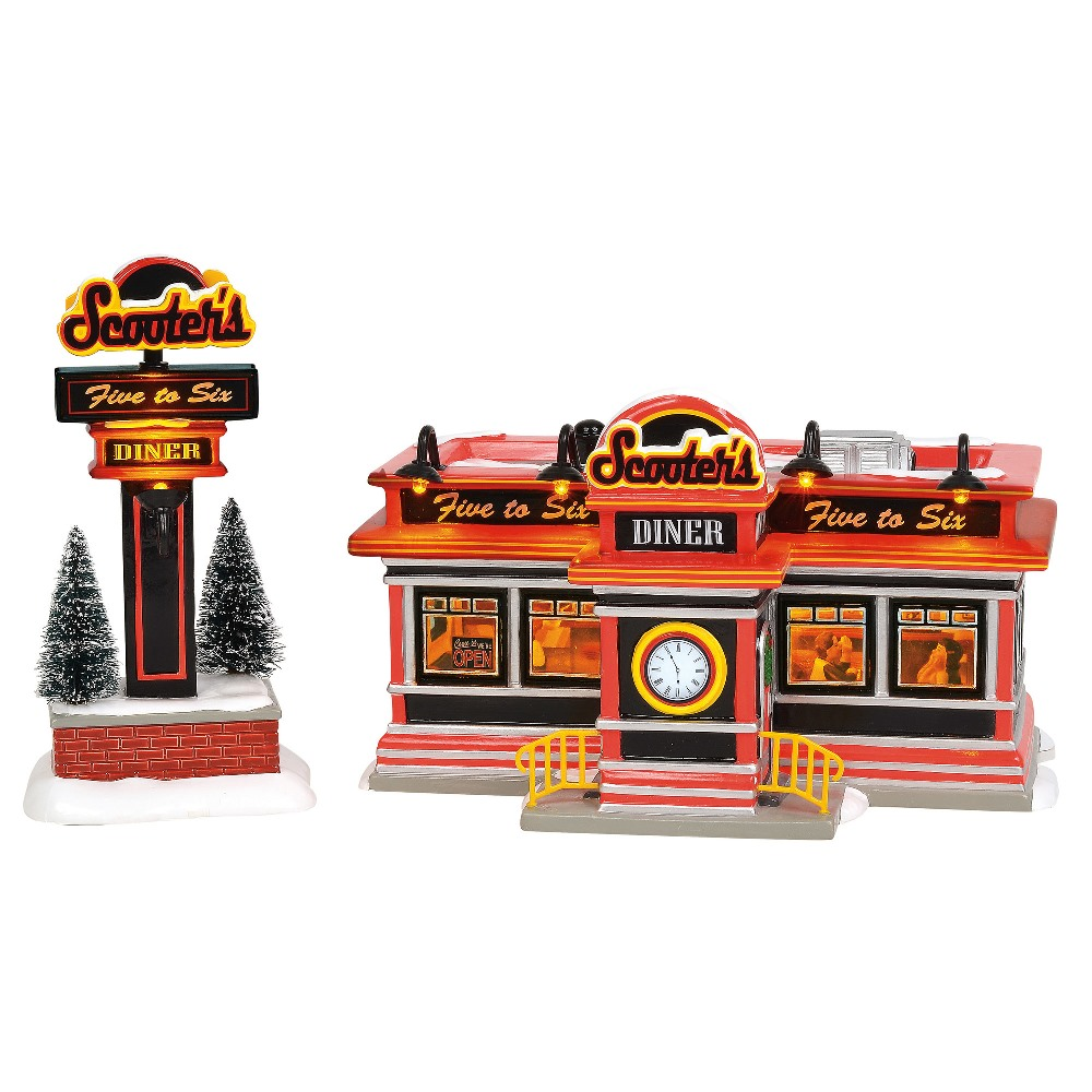 Department 56 Snow Village - Scooters Diner 2019