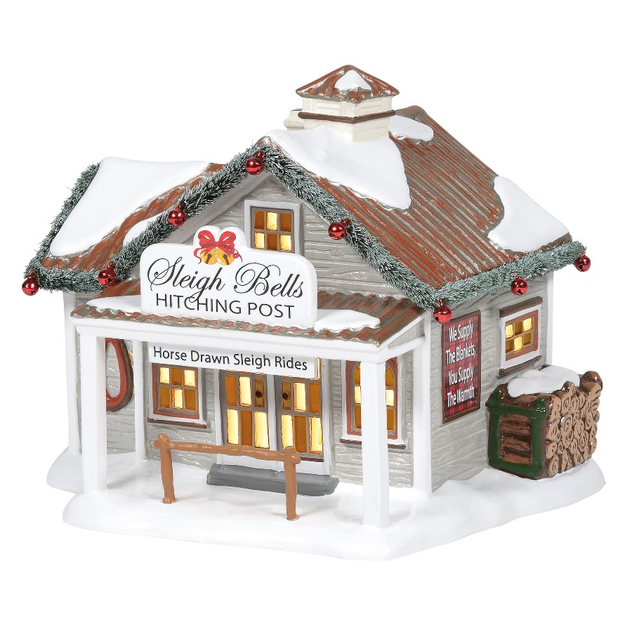 Department 56 Snow Village - Sleigh Bells Hitching Post 2020