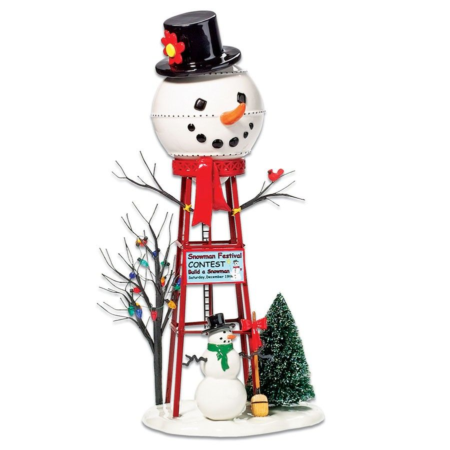 Department 56 Snow Village Accessory - Snowman Water Tower 2007