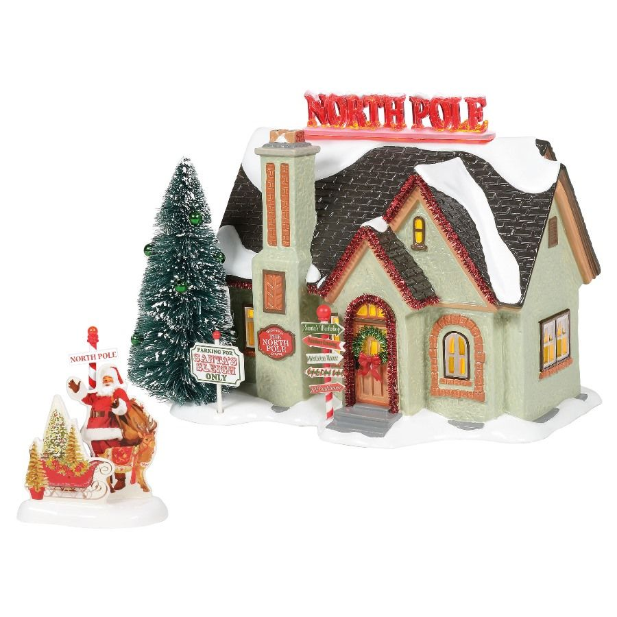 Department 56 Snow Village - The North Pole House - Set of 2 2020