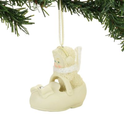 "Department 56 Snowbabies - ""First Shoe Ornament"""