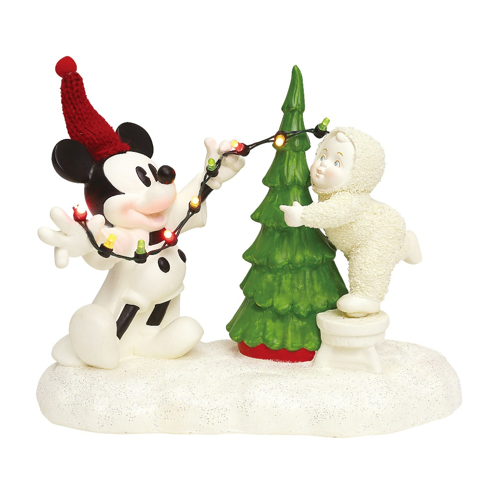Department 56 Snowbabies - Lighting The Tree With Mickey 2018
