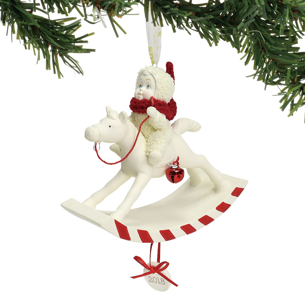 Department 56 Snowbabies - Peppermint Pony Ornament Dated 2018