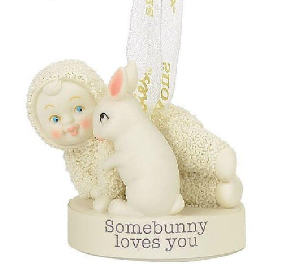 "Department 56 Snowbabies - ""Somebunny Loves You Ornament"""