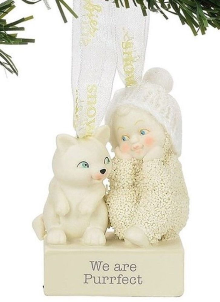 "Department 56 Snowbabies - ""We Are Purrfect Ornament"""