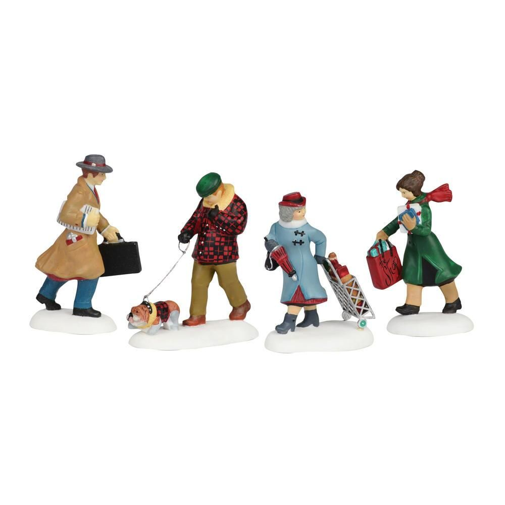 Department 56 Christmas in the City Accessory - Busy City Sidewalks 1999