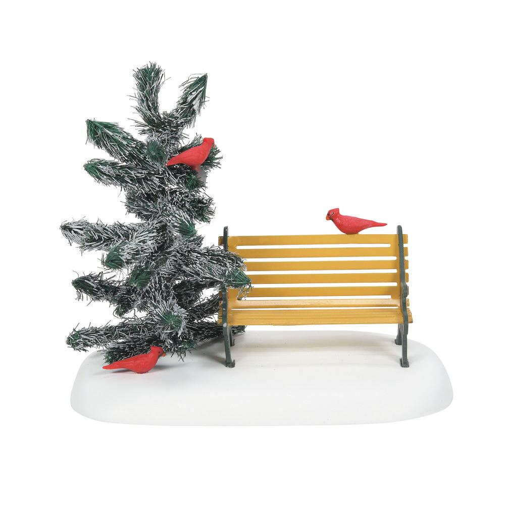 Department 56 Village Accessory - Cardinal Christmas Bench 2021