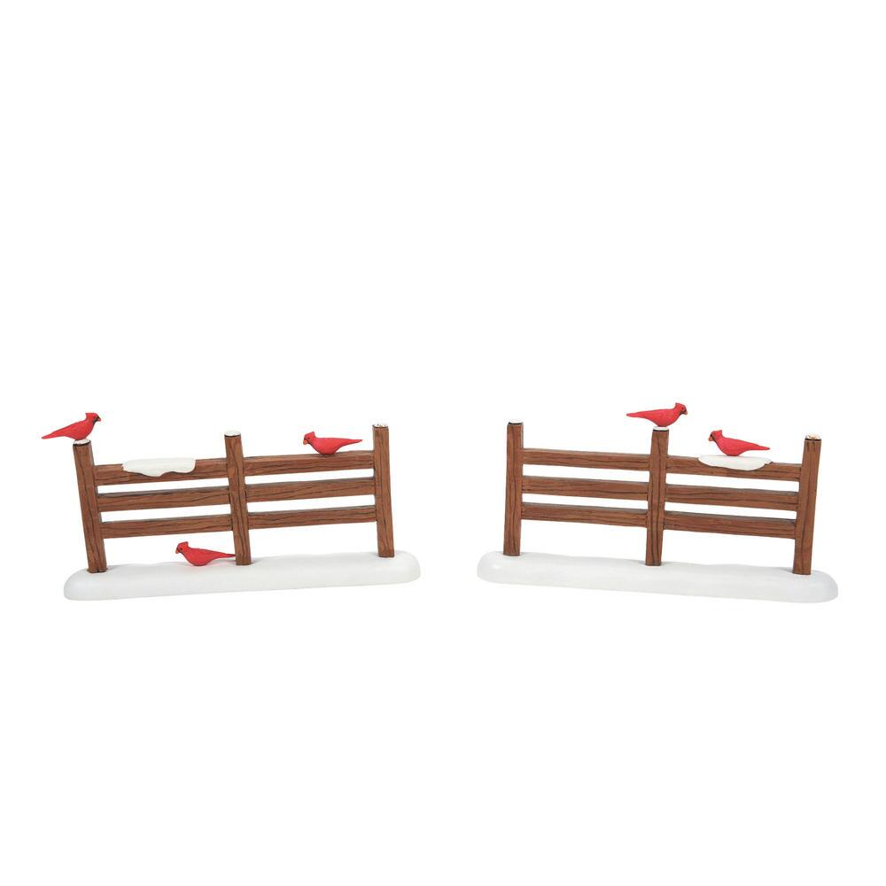 Department 56 Village Accessory - Cardinal Christmas Fence 2021