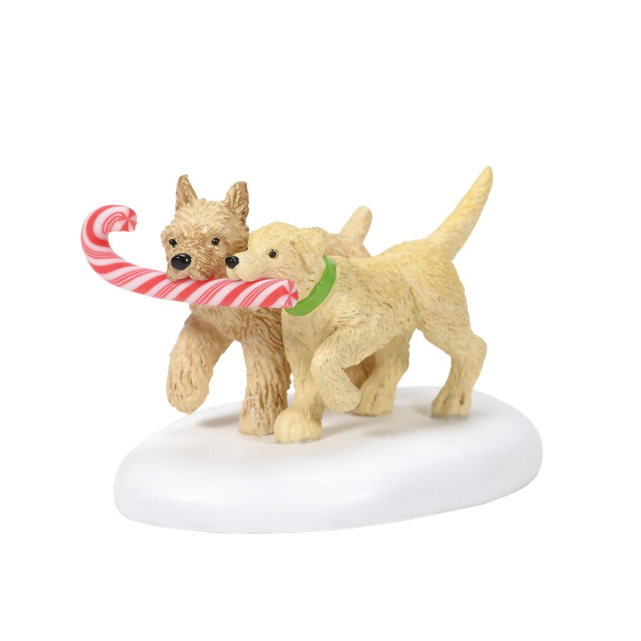 Department 56 Village Accessory - Peppermint Pups 2020