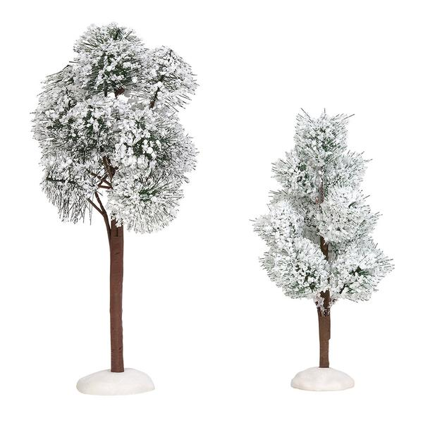 Department 56 Village Accessory - Snowy Jack Pine Trees 2019