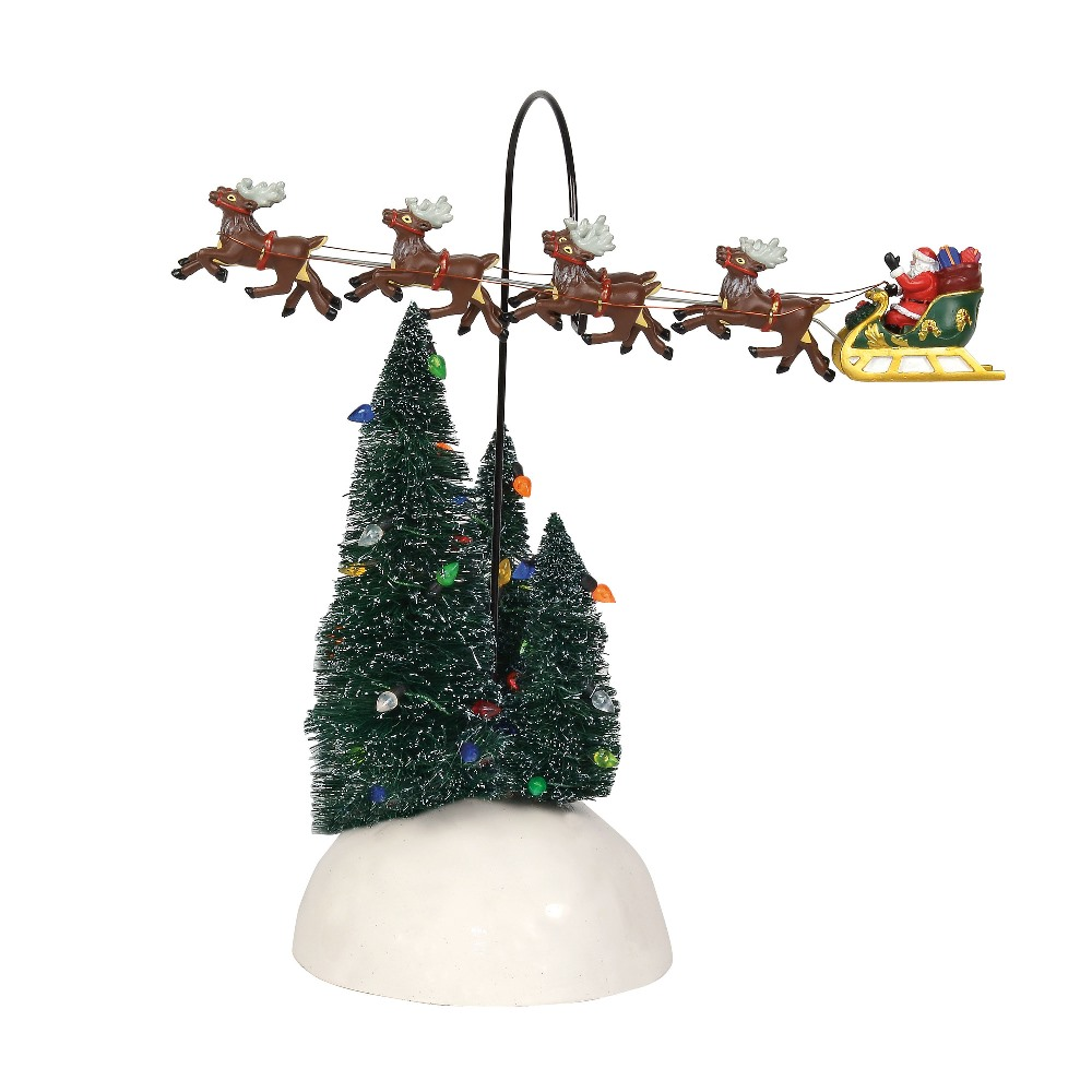 Department 56 Village Accessory - Up Up And Away Flying Sleigh