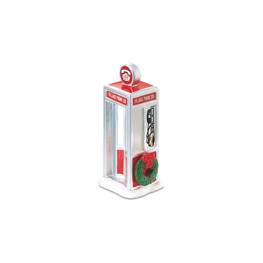 Department 56 Snow Village Accessory - Village Phone Booth 1992