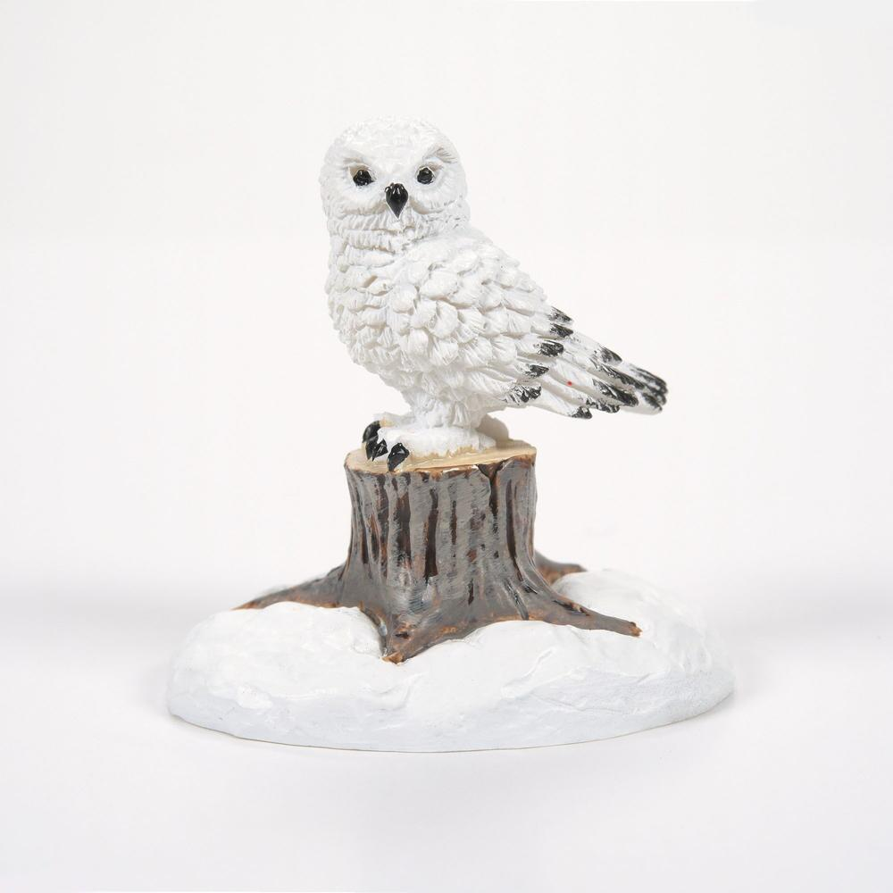 Department 56 Village Accessory - White Christmas Owl 2021