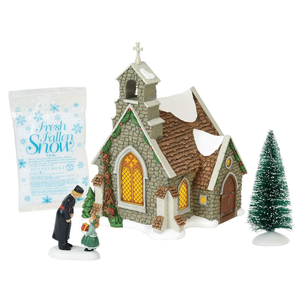 Dept 56 Dickens Village Silver Series - Isle of Wight Chapel 2018