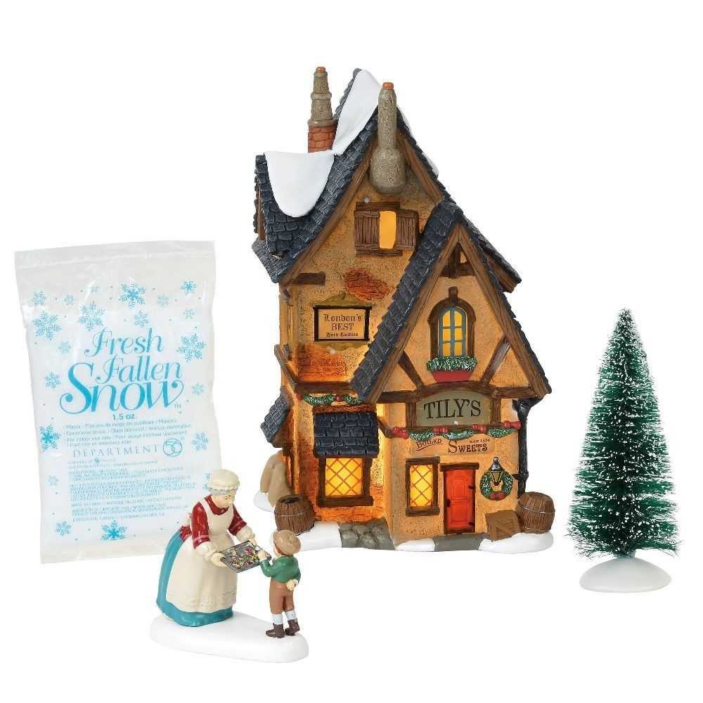 Dept 56 Dickens Village Silver Series - Tily's Boiled Sweets 2018