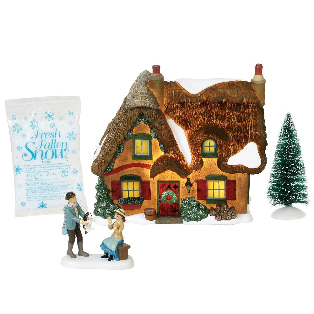 Dept 56 Dickens Village Silver Series - Brookshire Cottage 2018