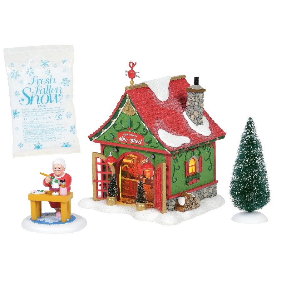 Dept 56 North Pole Village Silver Series - Mrs Claus Shed 2020