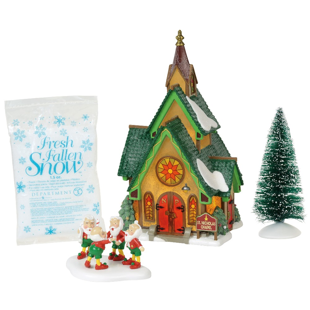 Dept 56 North Pole Village Silver Series - St. Nicholas Chapel 2018