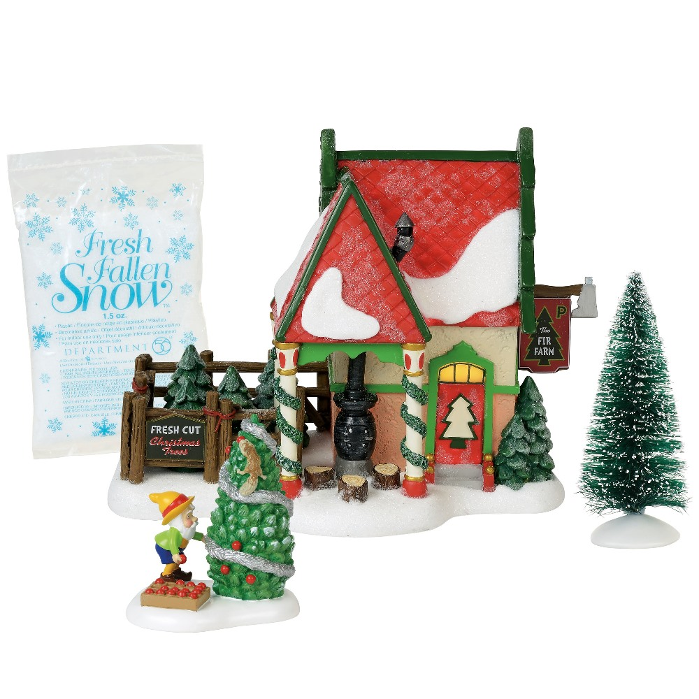 Dept 56 North Pole Village Silver Series - The Fir Farm 2018