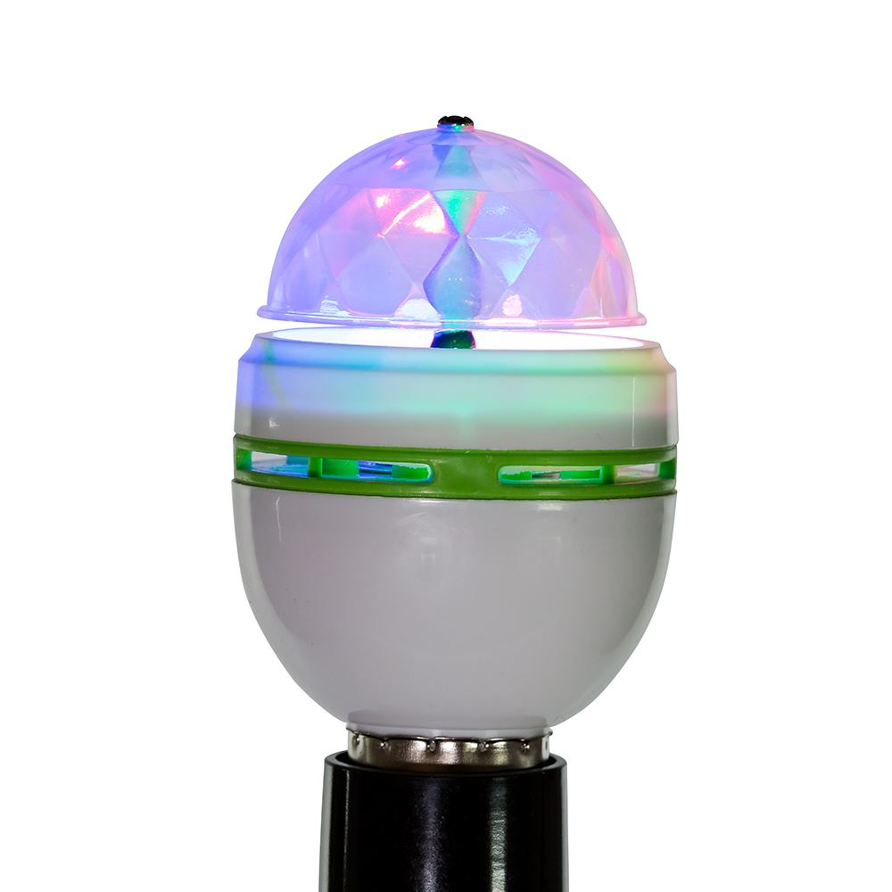 Disco Lamp - LED Color Rotating - 4in