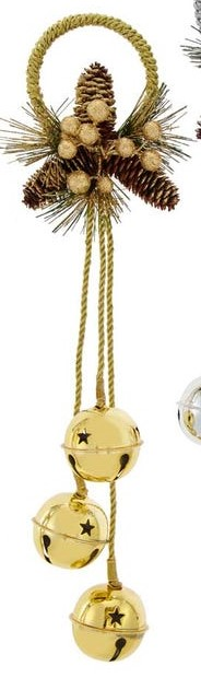 Door Hanger With Bells - Gold - 20in
