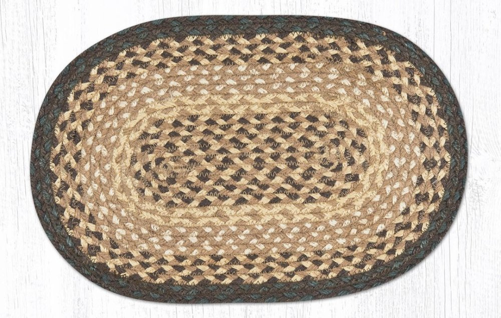 Earth Rug - Braided Mini Oval - Chocolate/Natural - 10x15