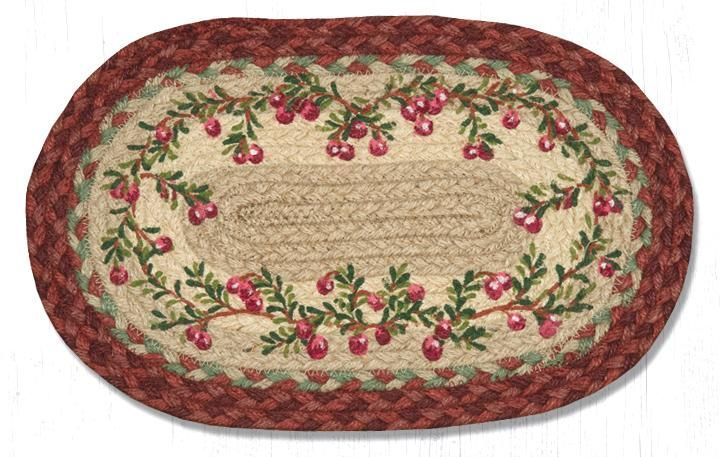 Earth Rug - Braided Mini Oval - Cranberries - 10x15