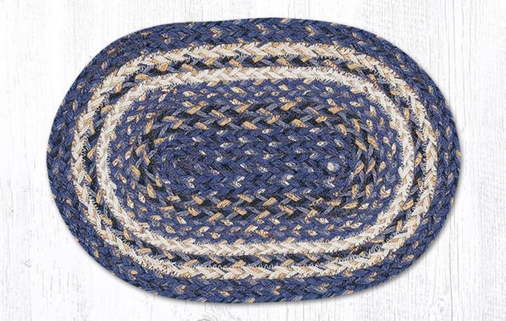 Braided Placemat - Small - Deep Blue - 10in x 15in