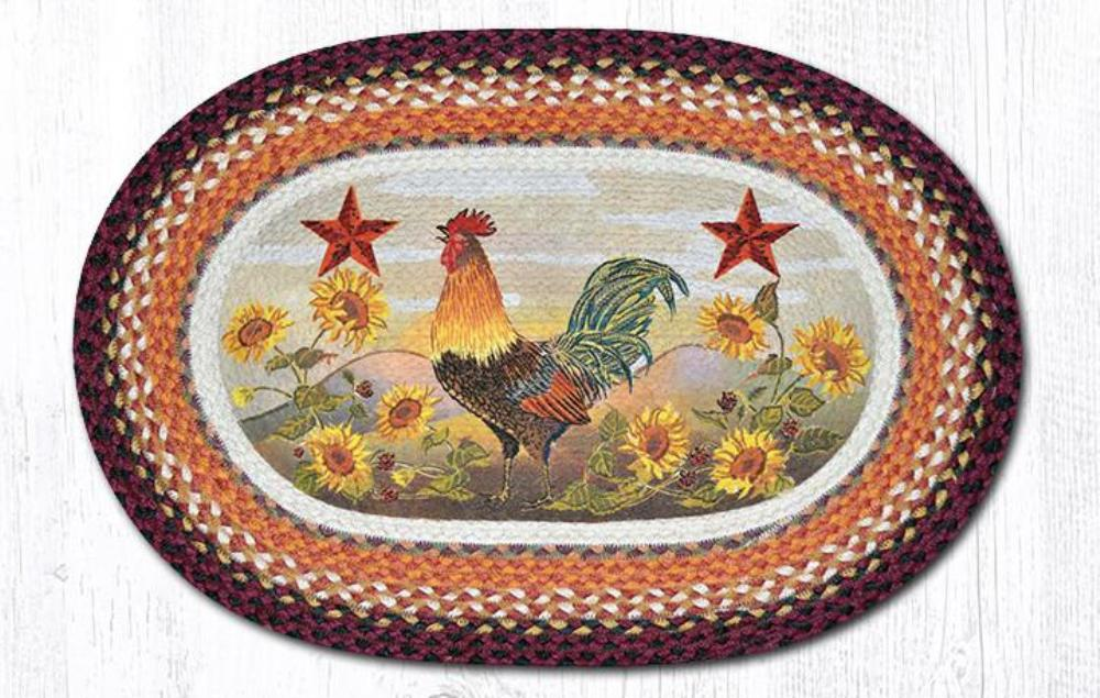 Earth Rug - Braided Oval - Morning Rooster - 20x30