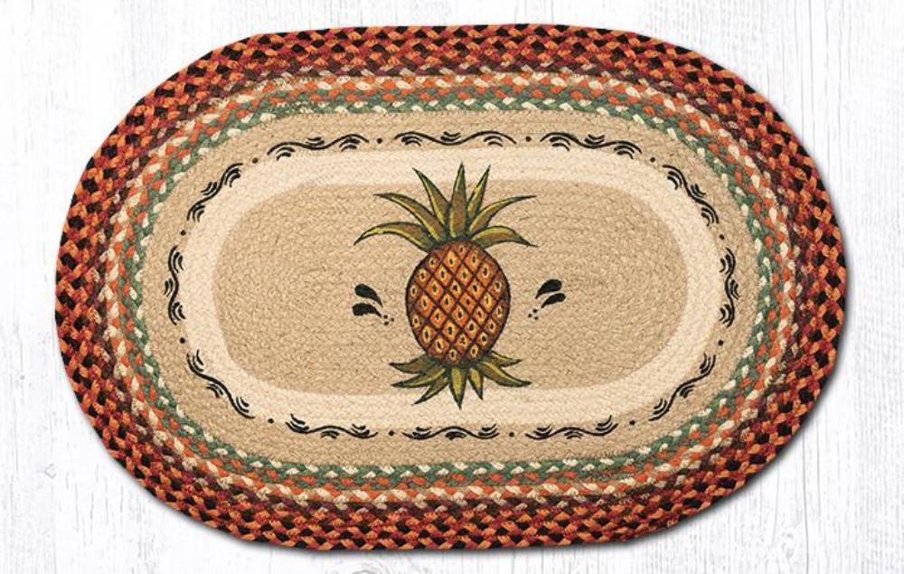 Earth Rug - Braided Oval - Pineapple - 20x30