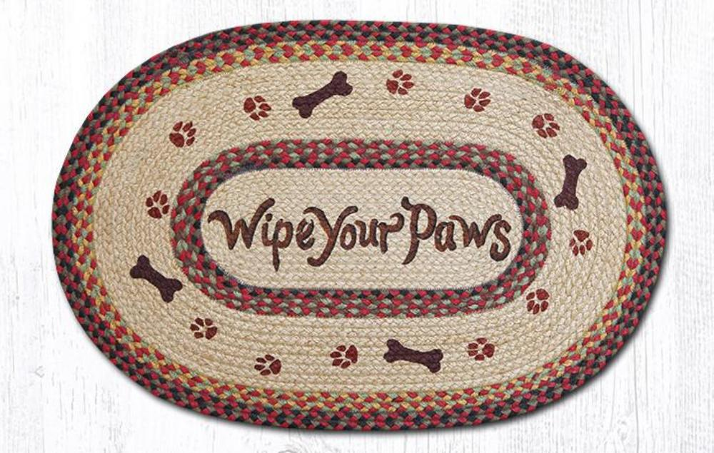Earth Rug - Braided Oval - Wipe Your Paws - 20x30