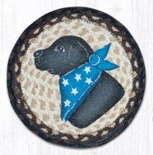 Earth Rug - Braided Round Trivet - Black Lab - 10in