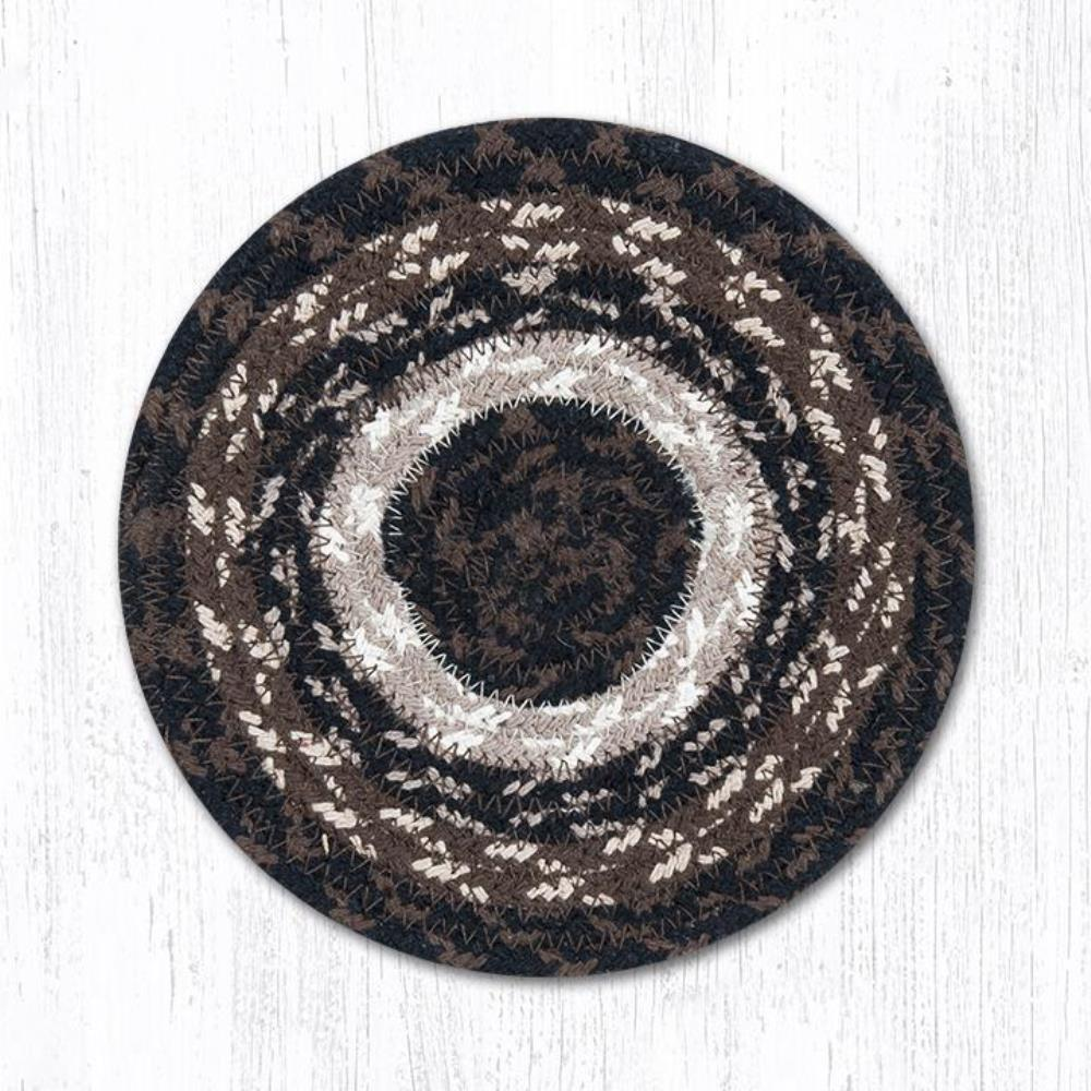 Earth Rug - Braided Round Trivet - Mocha/Frappuccino - 8in