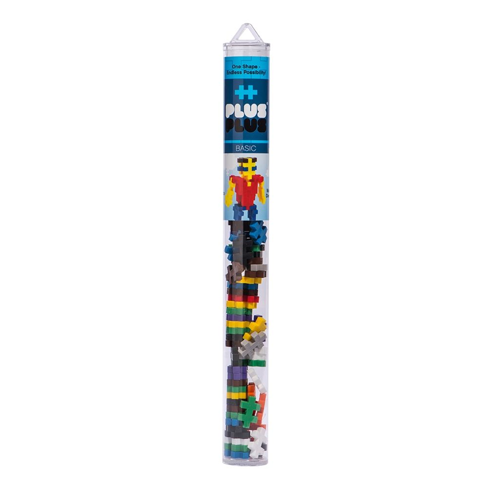 Building Set - Plus-Plus Developmental Toy - Basic Mix - Single Tube