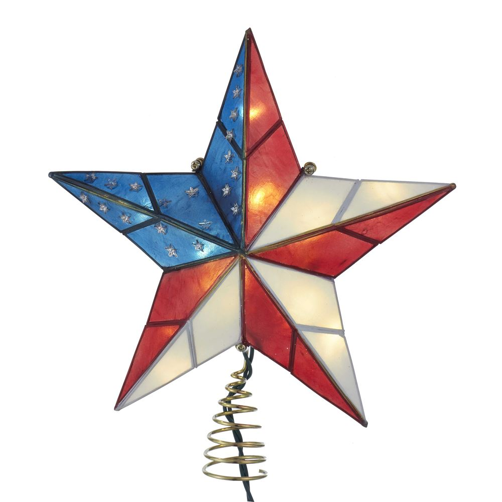 Electric Tree Topper - American Flag Star - 9.84in