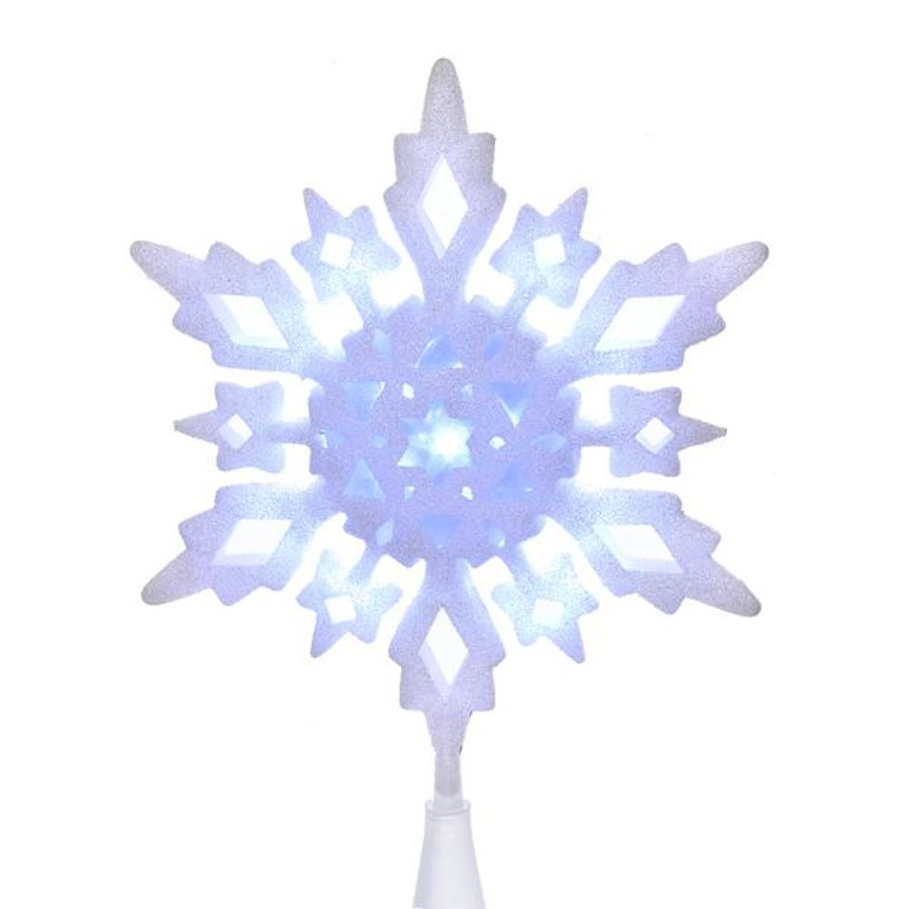 Electric Tree Topper - White Snowflake - 10in