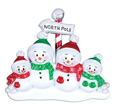 Family Ornaments - Snowmen and Character Families
